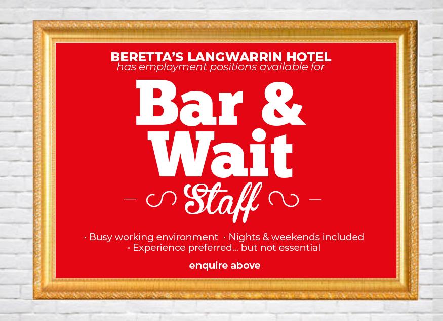 Bar & Wait Staff